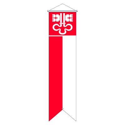 Flagge, Kanton bedruckt Nidwalden, 100 x 400 cm,