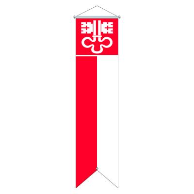Flagge, Kanton bedruckt Nidwalden, 120 x 400 cm,