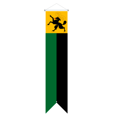 Flagge, Kanton bedruckt Schaffhausen, 120 x 600 cm,