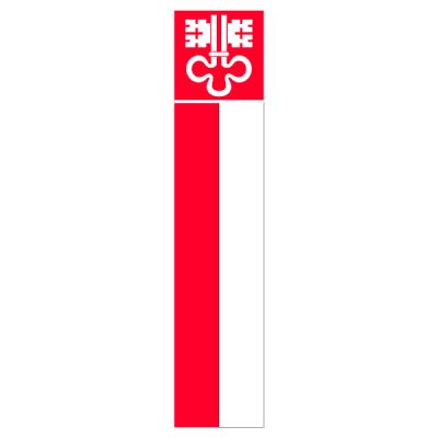 Knatterfahne, Kanton bedruckt Nidwalden, 78 x 700 cm