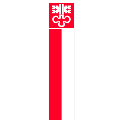 Knatterfahne, Kanton bedruckt Nidwalden, 120 x 700 cm