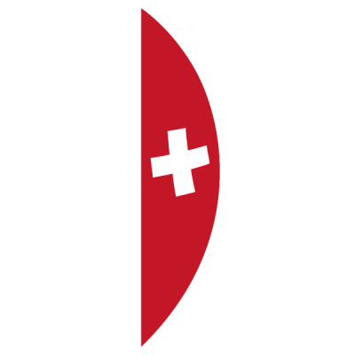 Knatterfahne, Bogen, bedruckt, Schweiz, 93 x 400 cm