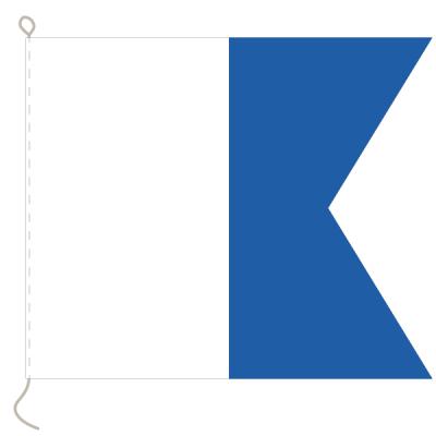 Flagge, Signal bedruckt A, 20 x 24 cm