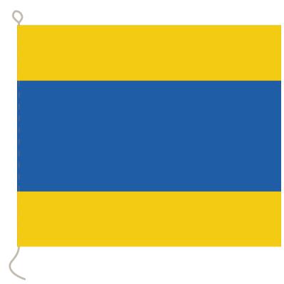 Flagge, Signal bedruckt D, 30 x 36 cm