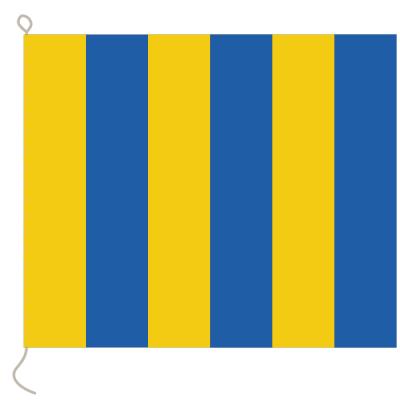 Flagge, Signal bedruckt G, 20 x 24 cm