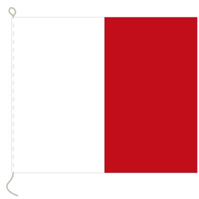 Flagge, Signal bedruckt H, 30 x 36 cm