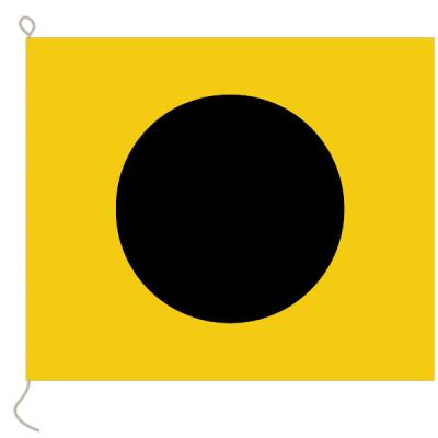Flagge, Signal bedruckt I, 30 x 36 cm