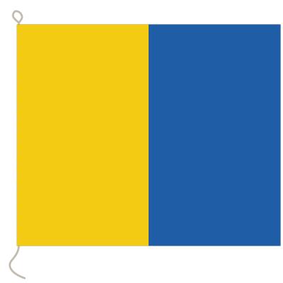 Flagge, Signal bedruckt K, 20 x 24 cm