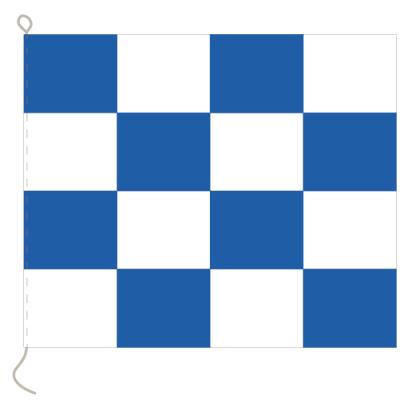 Flagge, Signal bedruckt N, 20 x 24 cm