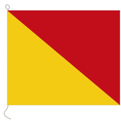 Flagge, Signal bedruckt O, 30 x 36 cm