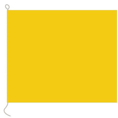 Flagge, Signal bedruckt Q, 20 x 24 cm