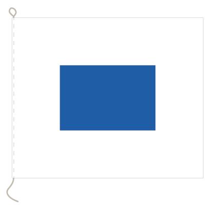 Flagge, Signal bedruckt S, 30 x 36 cm