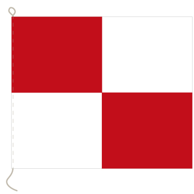 Flagge, Signal bedruckt U, 20 x 24 cm