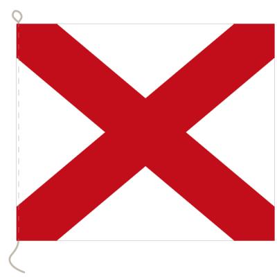 Flagge, Signal bedruckt V, 20 x 24 cm