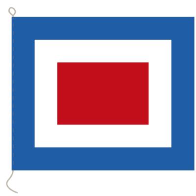 Flagge, Signal bedruckt W, 20 x 24 cm