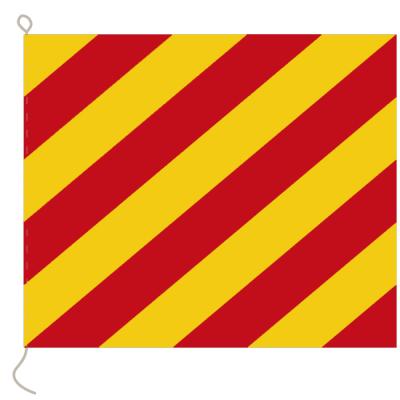 Flagge, Signal bedruckt Y, 30 x 36 cm