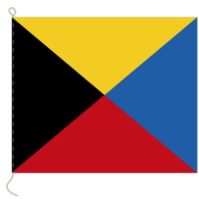 Flagge, Signal bedruckt Z, 20 x 24 cm