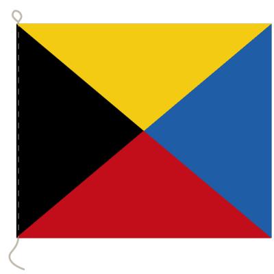 Flagge, Signal bedruckt Z, 30 x 36 cm