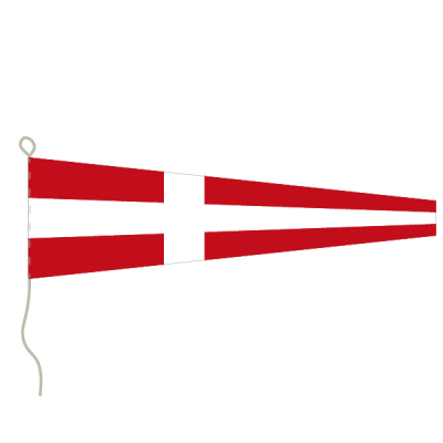Flagge, Signal bedruckt Nr. 4, 20 x 24 cm