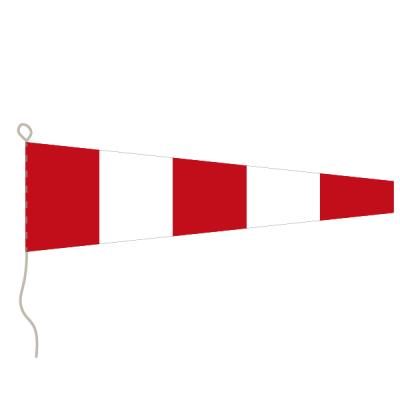 Flagge, Signal bedruckt Antwort/Ende, 30 x 36 cm