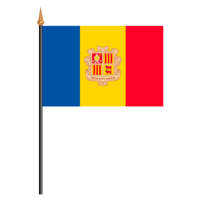 Tischfähnli, an PVC-Stab Andorra, 10 x 15 cm
