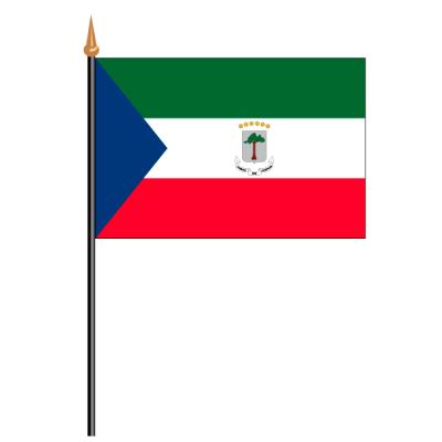 Tischfähnli, an PVC-Stab Äquatorialguinea, 10 x 15 cm