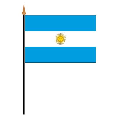 Tischfähnli, an PVC-Stab Argentinien, 10 x 15 cm