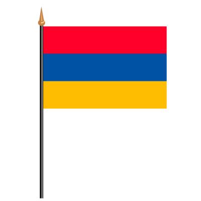 Tischfähnli, an PVC-Stab Armenien, 10 x 15 cm
