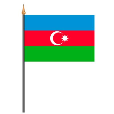 Tischfähnli, an PVC-Stab Aserbaidschan, 10 x 15 cm