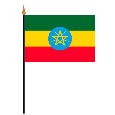 Tischfähnli, an PVC-Stab Äthiopien, 10 x 15 cm