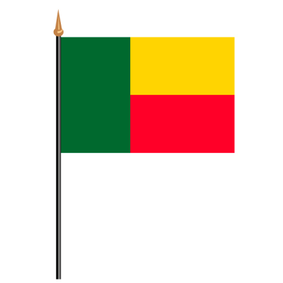 Tischfähnli, an PVC-Stab Benin, 10 x 15 cm