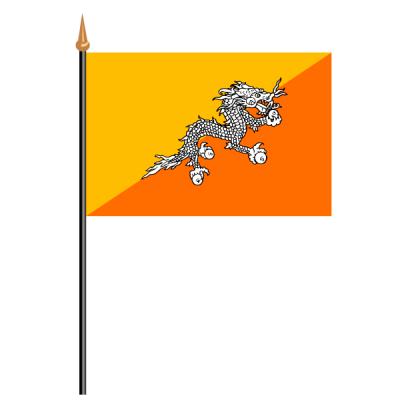 Tischfähnli, an PVC-Stab Bhutan, 10 x 15 cm