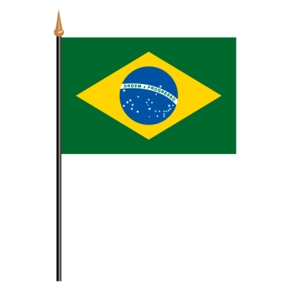 Tischfähnli, an PVC-Stab Brasilien, 10 x 15 cm