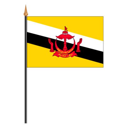 Tischfähnli, an PVC-Stab Brunei, 10 x 15 cm