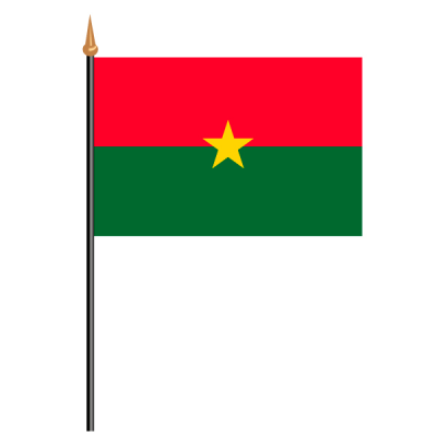 Tischfähnli, an PVC-Stab Burkina Faso, 10 x 15 cm