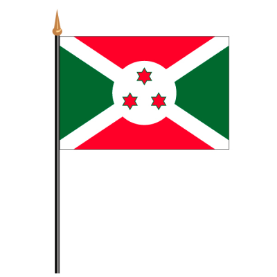 Tischfähnli, an PVC-Stab Burundi, 10 x 15 cm