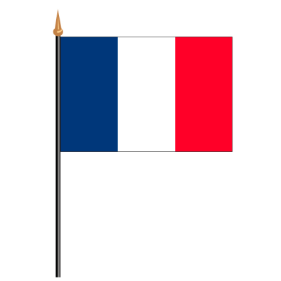 Tischfähnli, an PVC-Stab Frankreich, 10 x 15 cm