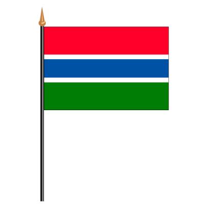 Tischfähnli, an PVC-Stab Gambia, 10 x 15 cm