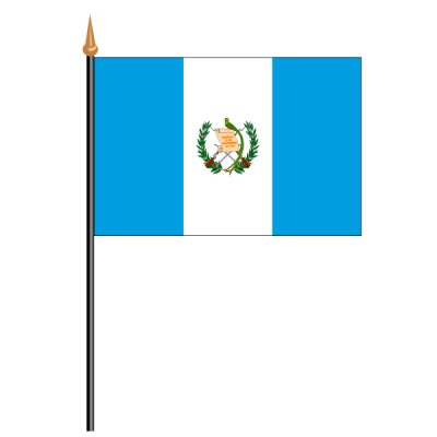 Tischfähnli, an PVC-Stab Guatemala, 10 x 15 cm