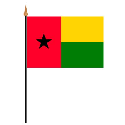 Tischfähnli, an PVC-Stab Guinea-Bissau, 10 x 15 cm