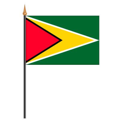 Tischfähnli, an PVC-Stab Guyana, 10 x 15 cm