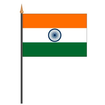 Tischfähnli, an PVC-Stab Indien, 10 x 15 cm