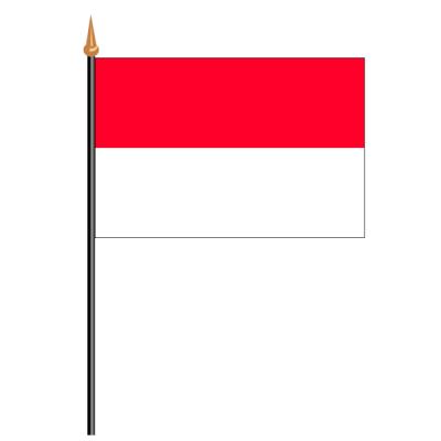 Tischfähnli, an PVC-Stab Indonesien, 10 x 15 cm