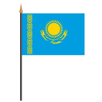 Tischfähnli, an PVC-Stab Kasachstan, 10 x 15 cm