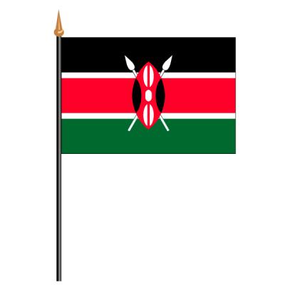Tischfähnli, an PVC-Stab Kenia, 10 x 15 cm