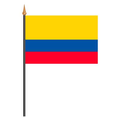 Tischfähnli, an PVC-Stab Kolumbien, 10 x 15 cm