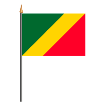 Tischfähnli, an PVC-Stab Republik Kongo, 10 x 15 cm