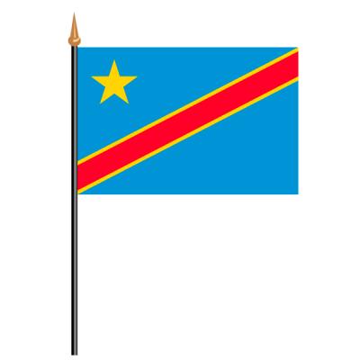 Tischfähnli, an PVC-Stab Demokratische Republik Kongo, 10 x 15 cm