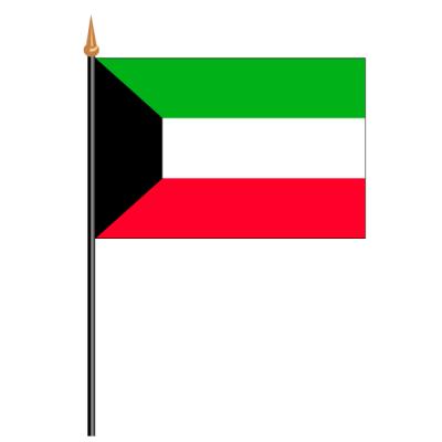 Tischfähnli, an PVC-Stab Kuwait, 10 x 15 cm