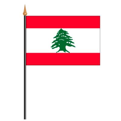 Tischfähnli, an PVC-Stab Libanon, 10 x 15 cm